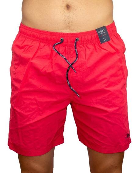 Short De Baño Hombre Legacy Liso Rojo Sho-h-18