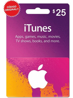 Itunes 25 Dólares Tarjeta Apple iPhone iPad Mac / Gift Card