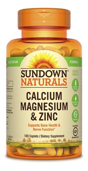Vitamina Sundown Calcio Magnesio Zinc 100 Cápsulas