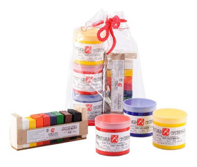 Kit Dactiloacuarela Con Crayolones Infantozzi Materiales
