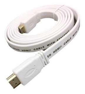 Cable Hdmi Plano De 1,5m Con Puntas Recubiertas En Oro