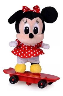 Mickey Minnie Peluche 25cms + Patineta Electrónica Original