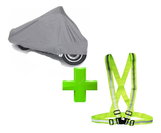 Funda Impermeable Cubre Moto + Chaleco Cinta Reflectiva ®