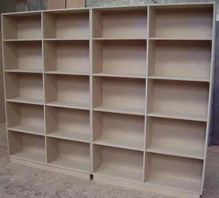 Modulo Biblioteca Estanteria Para Armar De Madera Hogar