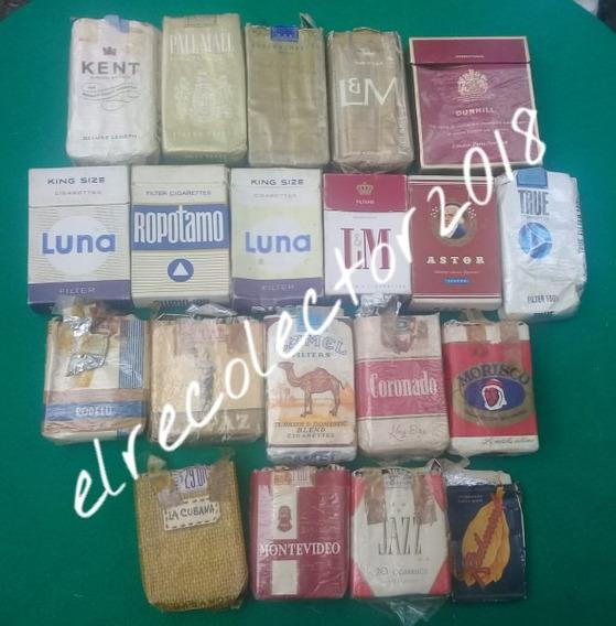 Antigua Colección Cajas Cigarrillos Vacías Obsoletas