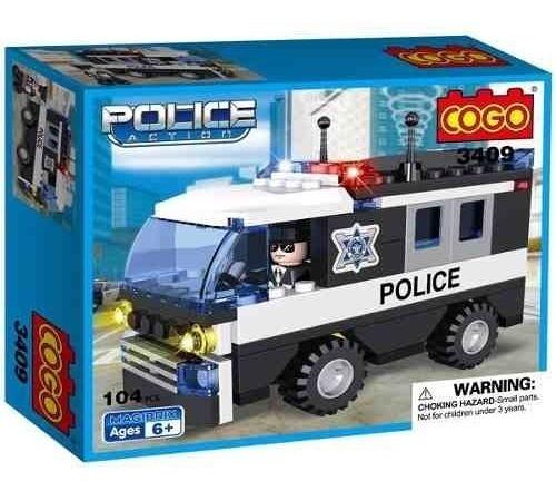 Cogo Bloques Camion Policia Comp Lego 104 Piezas St