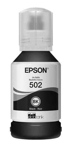 Epson T502 Ecotank Black Auto-stop Ink Bottle (et-2700, Et-2
