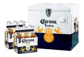 Cerveza Corona 355 Cc Pack X 12 Unidades + Cooler