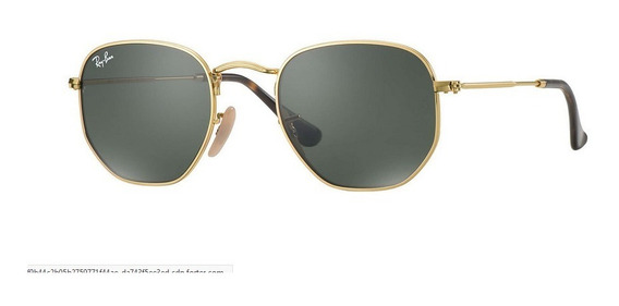 Lentes Ray-ban Rb 3548 Hexagonal Dorado Verde Stock