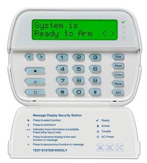 Teclado Lcd De Alarma Dsc De 64 Zonas Rfk5500