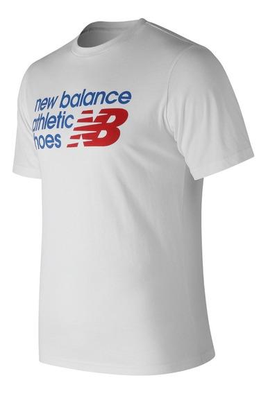 Remera New Balance Hombre Mt83541wt Nb Athletics Shoe Box T