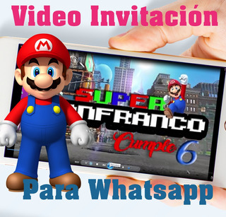 Tarjetas De Invitacion Mario Bross En Mercado Libre Uruguay