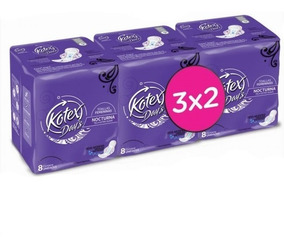 Toalla Intima Kotex Pack Nocturna 3x2 San Roque