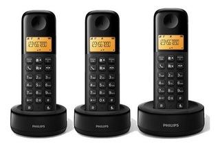 Teléfono Inalámbrico Philips D1303b Triple Base Id El Tio
