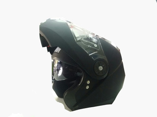 Casco Rebatible Con Lentes Hawk Negro Mate