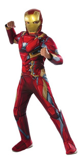 Disfraz Ironman - Iron Man-talle S, M, L Con Musculos