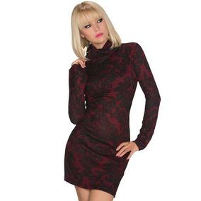 Sexy Vestido Vino Elegante Floreado Vintage Moda Retro