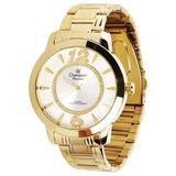 2276ad89692 Relógio Champion Feminino Dourado Com Pedras Ch24259h