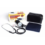 Kit Estetoscópio + Aparelho De Pressão Arterial