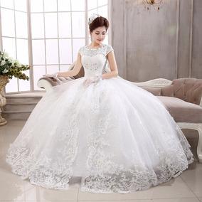 Vestidos de novia esponjados con cola