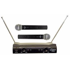 Pyle 2 Microfonos Inalambricos Pdwm2500 Vhf Profesional