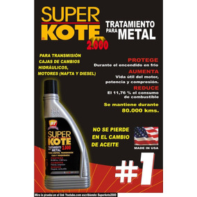 Superkote2000 -tratamiento P/ Metales Antifricción