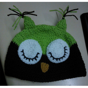 Gorro Tejido Al Crochet Lechuza