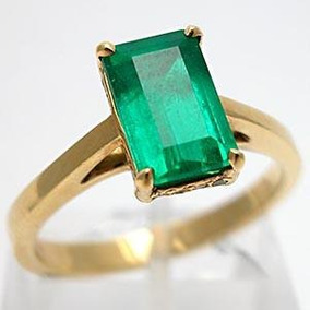 9a2ab08327e11 Extravasarjoias Anel Ouro Amarelo Pedra Natural Esmeralda!! R  14.362