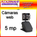 Camara Web 5 Mp Visión Nocturna Microfono Para Pc Y Notebook