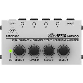 Amplificador Para Audifonos Behringer Ha400 Hd