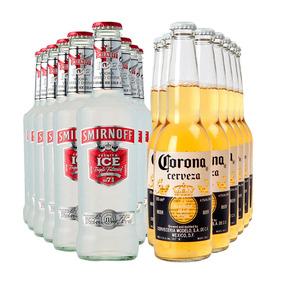 Cerveza Corona 355ml 24 Botellas + Smirnoff Ice 275ml X24