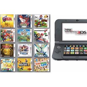 Nintendo New 3ds Xl Preto + Pokemon + Zelda + Super Smash