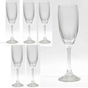 Juego 6 Copas Cristal Champagne Estilo Mondo Prinz