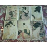 Antiguas Postales Alemanas Dibujadas Motivos Chinos Lote X 6