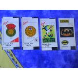 Lote X 4 Figuritas Coleccion Chicles Italia 90 Y Batman