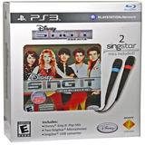 Disney Sing It Pop Hits Pack Ps3 Playstation Nuevo Y Sellado