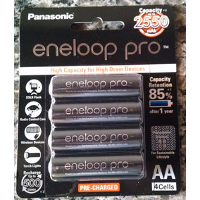 Pilhas Eneloop Panasonic Pro Aa 2550mah Cartela Com 4 Uni