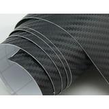 Vinilo Fibra Carbono Texturado Papel Carbono Rollo Medio Mtr