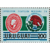 Osl Sello Aéreo Mint 392 Mint Uruguay Expo Filatelia