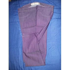 Jeans Elastizado De Dama Color Violeta Tramps 38