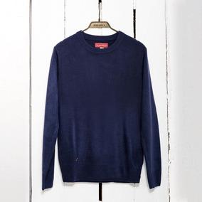 Sweater Dama Básico Azul Marino- Buzo Tejido Punto - Bellmur