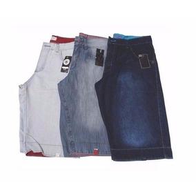 Kit 03 Bermudas Jeans Masculina Slim Lycra Barata Atacado
