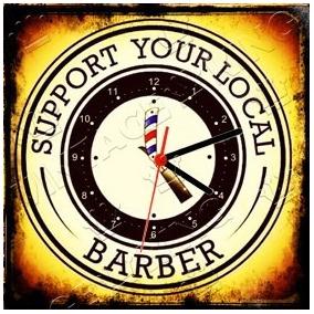 cbf879c6fb8 Relógio Vintage King Mdf 27x27 Barber Shop Cloqbc.0119. R  29 98
