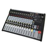 Consola Audio 12 Canales Efectos Usb Sd Mp3 E-sound Mp-1202u