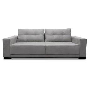 Sofa 3 Lugares 2.30m - Modelo Light - (tecido Suede)