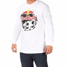 Remera Manga Larga Fox Red Bull De Hombre América Ropería