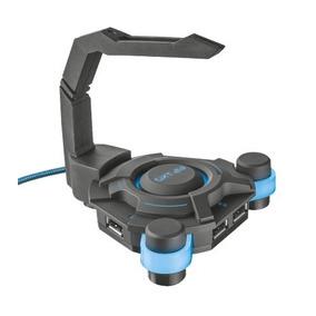 Trust Gxt 213 Hub X 4 Usb Luz Azul Led Mouse Bungee Pc