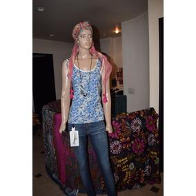 Paula Cahen Danvers Musculosa Modelo Abanicos