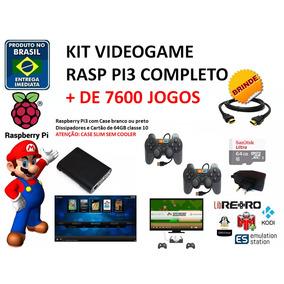 Kit 4 - Retrobox64 + 7600 Multijogos Recalbox Raspberry Pi3
