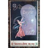 Antiguo Afiche Propaganda Almanaque Bayer 1927 Sobre Fibra